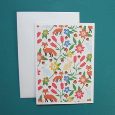 6 Animal Note cards-all occasion blank card sets by HabitatHaven