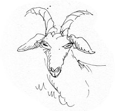 working sketch for a Billy Goat Gruff puppet