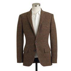 Ludlow English Wool Sportcoat in Brown Glen Plaid