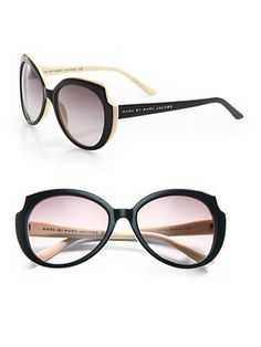 Marc by Marc Jacobs Two-Tone Round Sunglasses