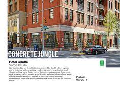 The Hotel Giraffe, NYC // http://triptea.se/q895r