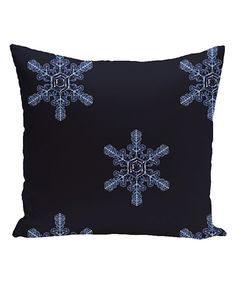 Look at this Navy Blue Flurries Throw Pillow on #zulily today!