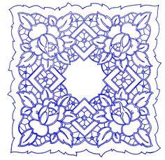 UBRUSY | Ubrus 50x50cm O | Ubrus O 117 | Předtisky na vyšívání - Olga Synková Helga