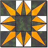 Wisconsin Star quilt block pattern