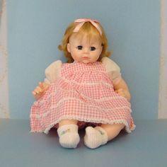 Mint 1972 Madame Alexander Pussy Cat Baby Doll Vinyl Cloth 24 Inch Blond 6546 by AmericanBeautyDolls on Etsy