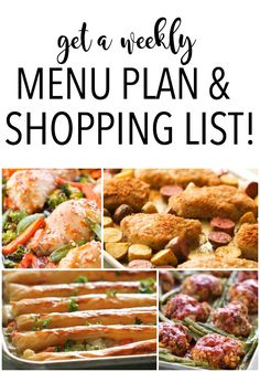 get a weekly menu plan and shopping list sent straight to your inbox from sixsistersmenuplan