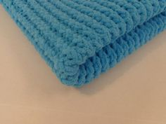 Knitted Baby Blanket   Baby Teal by PolkaDotKreations on Etsy, $40.00