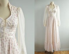 Hey, I found this really awesome Etsy listing at http://www.etsy.com/listing/176513567/vintage-gunne-sax-dress-1970s-sheer