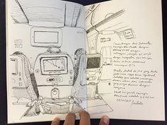 8 hours from Jakarta to Abu Dhabi by @etihad_airlines - #sketch #sketching #sketchbook #sketchwalker #TravelSketch #TravelSketcher