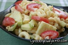 This recipe has been in our family for Years! As as kid, I loved summer, it was the only time of year my mom made this delish zesty macaroni salad. This particular recipe combines the flavors of 3 simple dressings for fabulous flavor. Easy Salads, Summer Salads, Cheap Meals, Easy Meals, Cheap Recipes, Miracle Whip Recipes, Macaroni Salad, Pasta Salad Recipes, Stuffed Green Peppers