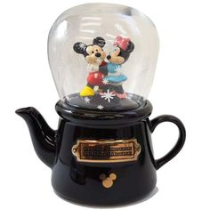 "Mickey & Minnie ""Snowglobe Tea for One"" (teapot & teacup)"