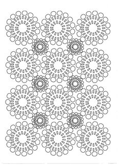 Free coloring page coloring-adult-circles-flowers.