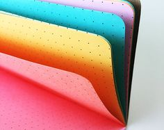 Multi-color Rainbow Traveler's Notebook Insert - Choice of 8 sizes Rainbow Pages, Daily Organization, Websters Pages, Cute School Supplies, Blank Book, Leather Notebook, Paper Cover, Journal Notebook, Brighten Your Day