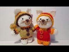 Amigurumi Oso Pijama : Oso gato chanchito y conejo bebés en pijamas esperando navidad