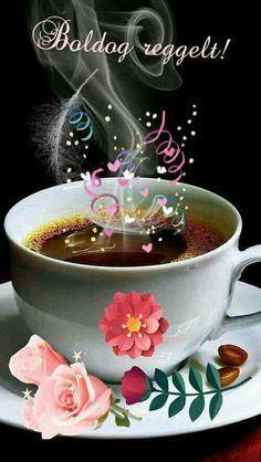 Good Morning Images Hd, Good Morning Gif, Good Morning Greetings, Coffee Images, Good Morning Coffee, Halloween Makeup, Punch Bowls, Brewing, Panna Cotta