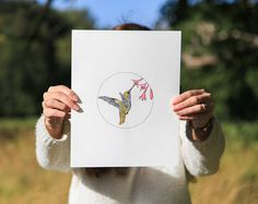 Original Hand Drawn & Watercolour The Humming by CuriousmeDesign, $80.00