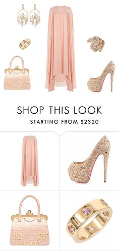 """""""Untitled #947"""" by z777 ❤ liked on Polyvore featuring Elie Saab, Christian Louboutin, Miu Miu, Bulgari, Jacob & Co. and Cartier"""