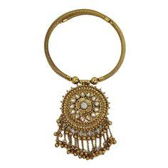Gold Tone Ethnic Tribal Choker Necklace Set Indian Women Wear CZ Banjara Jewelry | eBay