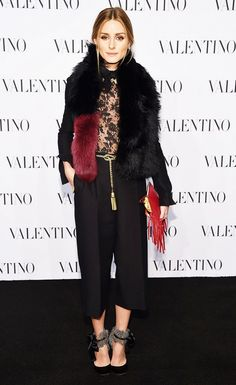 The Stylish Fall Trend Olivia Palermo Is Already Wearing via @WhoWhatWear  #furscarf #fall2015 #falltrend
