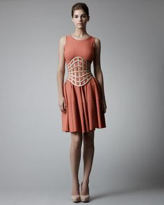 This corset belt is my cardio motivation, and goes so well with the coral dress