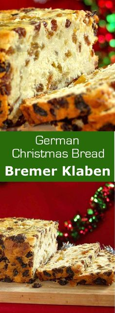 Bremer Klaben is a traditional German Christmas bread with dried fruits and almonds which is protected by a European PGI. #bread #christmas #germany #196flavors