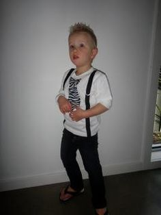 Tie T Shirt Zebra with Suspenders Little Man by HomeArtsBoerne, $21.95