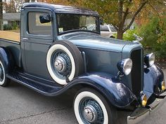 Chevrolet : Other Pickups Blue 1934 CHEVY PICKUP MINT CONDITION - http://www.legendaryfind.com/carsforsale/chevrolet-other-pickups-blue-1934-chevy-pickup-mint-condition-2/