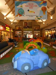 Northgate Mall play area: It's free and an excuse to go to the mall. Works for me.