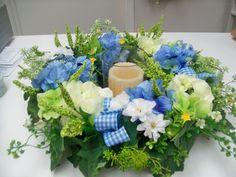Custom Centerpiece Wreath - for Laura by SilkPetalsAmityville on Etsy