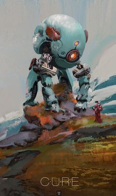 The Art Of Animation, Mohamed Gadi - Moodyg - . Arte Robot, Robot Art, Art And Illustration, Illustrations, Character Concept, Character Art, Science Fiction Kunst, Mekka, Robot Design