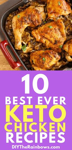 10 Easy Keto Chicken Recipes You'll Want To Make All Year Diet Dinner Recipes, Keto Dinner, Breakfast Recipes, Low Carb Recipes, Great Recipes, Favorite Recipes, Healthy Recipes, Easy Recipes, Vegetarian Keto