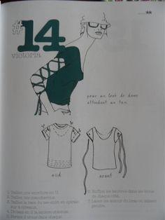 transformer un vieux teeshirt ! Cut Up T Shirt, Cut Shirts, Band Shirts, Diy Clothes Refashion, Shirt Refashion, Refashioned Clothes, Tee Shirt Crafts, T Shirt Diy, T Shirt Reconstruction