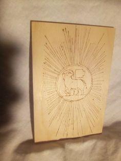 Quadro in legno di betulla disegno pirografato a mano 10x15x0,5cm SS.Sacramento. Sacramento, Table Lamp, Paper, Ebay, Home Decor, Art, Art Background, Lamp Table, Decoration Home