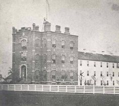 Indianapolis City Hospital Exterior, ca. 1865. :: IUPUI Image Collection