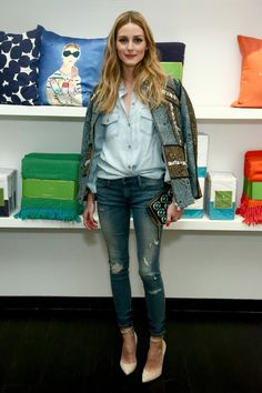The Olivia Palermo Lookbook : Olivia Palermo at Kate Spade pop-up shop opening in New York