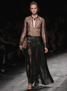 VALENTINO Leather and Lace