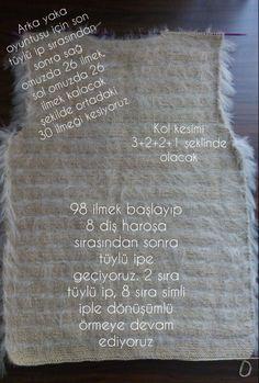 Women& -Easy Fur Vest Making - Knitting Models - orgu - Baby Knitting Patterns, Hand Knitting, Crochet Patterns, Baby Set, Crochet Clothes, Crochet Hats, Fitness Tattoos, Viking Tattoo Design, Sunflower Tattoo Design
