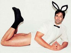 It's John Hamm. Without pants. Wearing bunny ears. That's all the explanation you need.