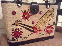 Enid Collins of Texas Road Runner 1963 Vintage Tag Unused Handbag Purse Jewels | eBay