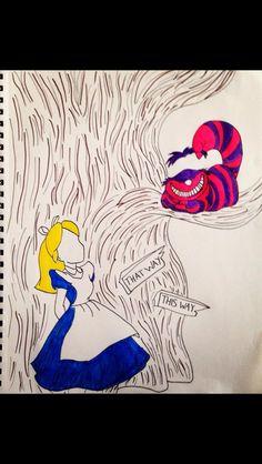 Alice in wonderland and Cheshire