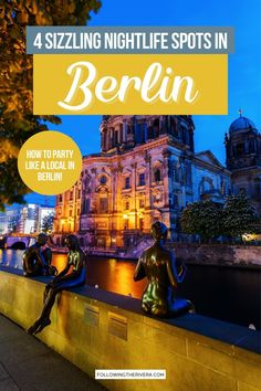 Best Bars In Berlin. Enjoy the electric energy of the German capital, with this guide on 4 of the best nightlight spots to stay up all night in the city   Berlin   Things To Do In Berlin At Night   Berlin Nightlife   Berlin Bars   Berlin Nightclubs   Berlin Trip   Berlin Travel Europe Travel Guide, Travel Abroad, Travel Guides, Places In Europe, Europe Destinations, Places To Go, Berlin Travel, Germany Travel, European Vacation
