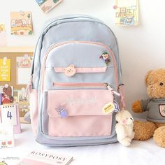 Girly Backpacks, Cute Mini Backpacks, Life Hacks For School, Too Cool For School, College Style, College Fashion, Stylish School Bags, Aesthetic Backpack, School Suplies