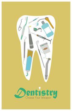 Dentistry 11x17 minimalism poster print by EskimoChateau on Etsy, $16.00