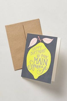 Main Squeeze Birthday Card #snailmail #anthrofave
