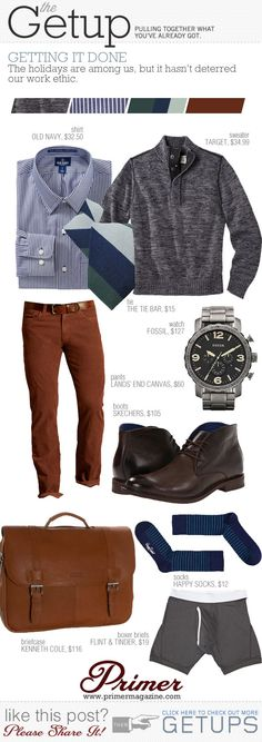 Grey, Navy, Brick.  The Getup: Getting It Done | Primer