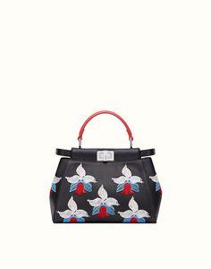 FENDI   MINI PEEKABOO handbag in nappa and rhinestones
