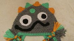 Baby Monster Hat Crochet Monster Hat by TheFlyButterFactory, $22.95
