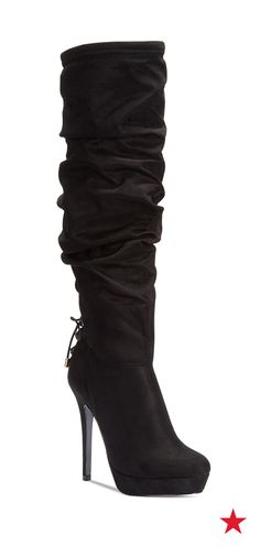 It's about time you took your shoe game to new heights. These over-the-knee slouch boots from Thalia Sodi will do the trick.