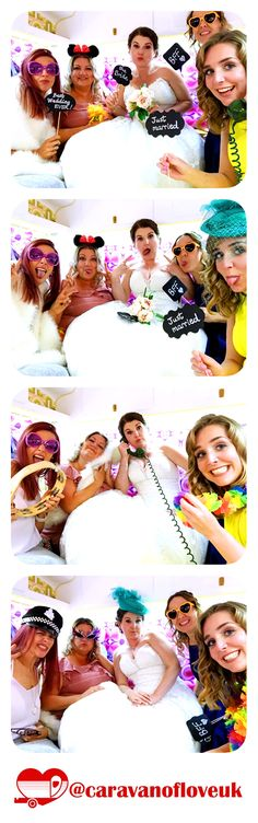 Wedding photobooth fun in the Caravan of Love vintage photobooth. Hochzeit photobooth Spaß in der Vi Best Caravan, Linen Bed Sheets, Checkerboard Pattern, Vintage Caravans, Wedding Hire, Photo Booth Backdrop, Unique Photo, Kitchen Colors, Wedding Inspiration
