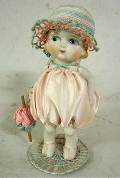 Antique Bisque 6 1/4'' DOLL~Jointed Arms~Made in Japan kewpie FABULOUS CLOTHES | eBay